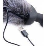 COLA PLUG VIBRADOR USB ZORRO GRIS CON MANDO